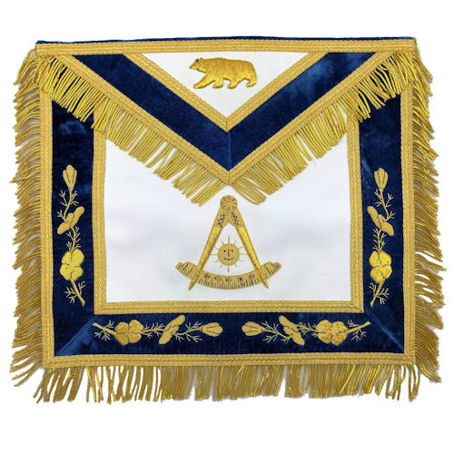 California Past Master Apron With Bear 307