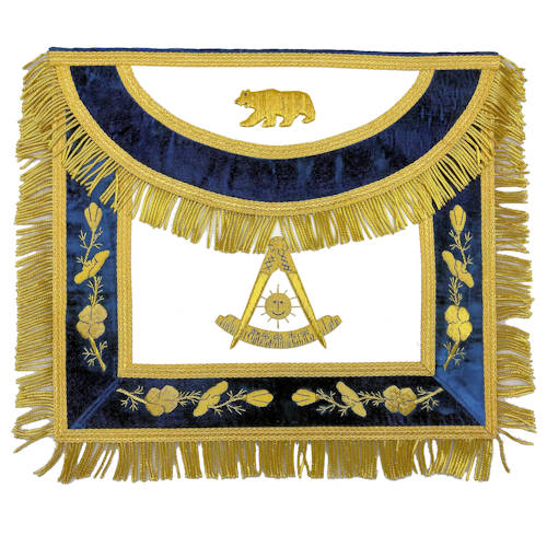California Past Master Apron With Round Flap 308