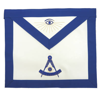Machine Embroidered Past Master Apron 309