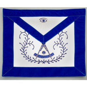 Machine Embroidered Past Master Apron 311