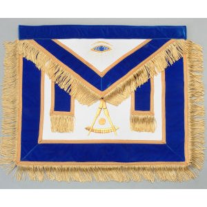Machine Embroidered Past Master Apron 323