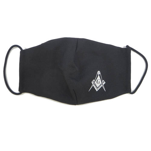 Masonic Face Covering, Black #4205