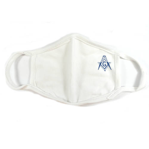 Masonic Face Covering, White #4209