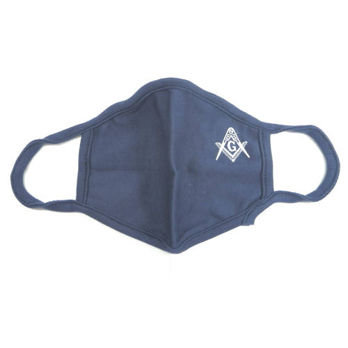 Masonic Face Covering, Navy Blue #4212