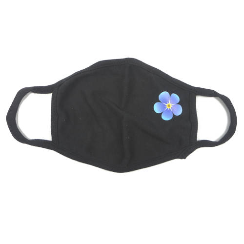 Forget-Me-Not Face Covering, Black