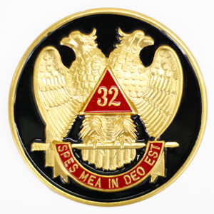Scottish Rite Auto Emblem Black Background AE-36