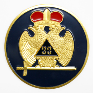 Scottish Rite 33rd Auto Emblem AE-48