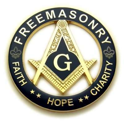 Masonic Auto Emblem Faith-Hope-Charity  AE-60