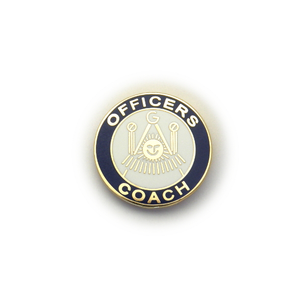 GL-124 Officers Coach Lapel Pin
