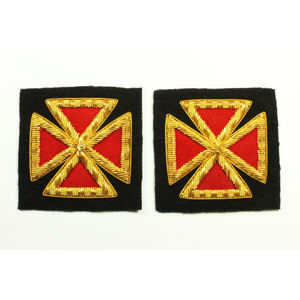 Grand Commandery Sleeve & Collar Crosses KT-212B
