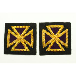 Past Grand Commander Sleeve & Collar Crosses KT-215B