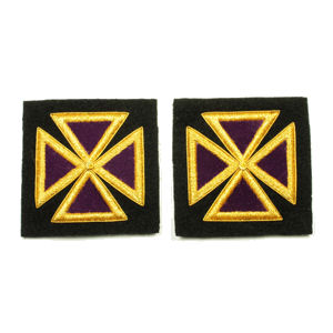 Past Grand Commander Sleeve & Collar Crosses KT-216M