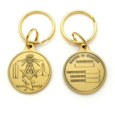 Bronze Masonic Key Tag #3964