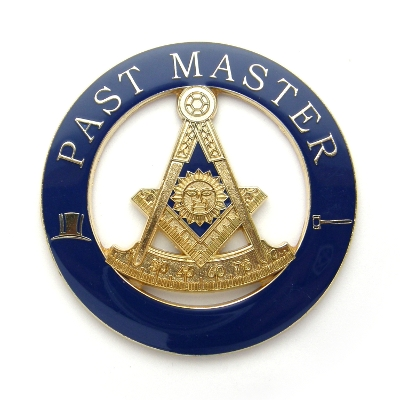 Masonic Past Master Auto Emblem (Square-Compass-Quadrant) AE-55
