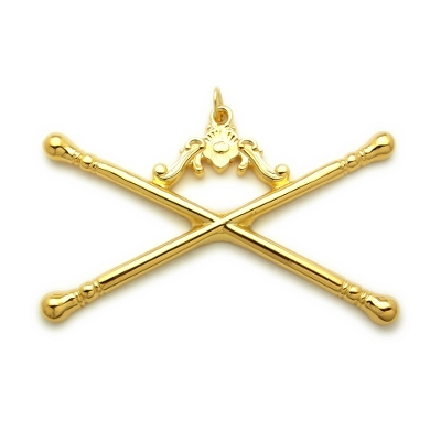 Officer Collar Jewel RBL-12 Gold Marshal