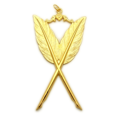 Officer Collar Jewel RBL-4 Gold Secretary