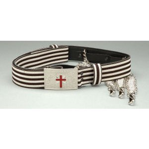 Knight Templar Belt Silver/Black with Chain Slings KT-125SB