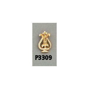 O.E.S Star Point Pin P3309 Musician