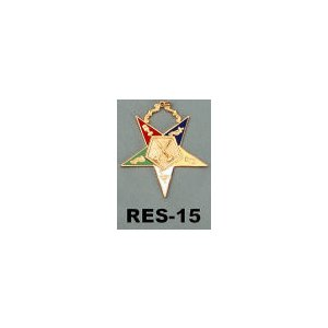 O.E.S. Officer Collar Jewel  RES-15 PAST MATRON
